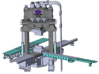 30MN 双柱上传动多拉杆预应力框架快锻压机