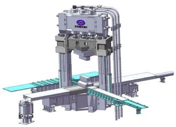 30MN 双柱上传动键联接焊接结构快锻压机