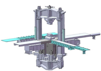 30MN 双柱下拉式多拉杆预应力框架快锻压机
