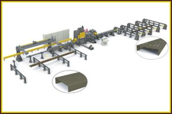 卡车纵梁三面数控冲孔生产线