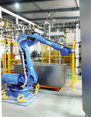 申龙电梯自主设计门板全自动生产线